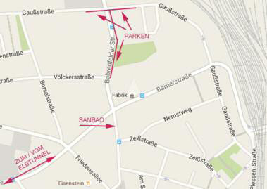 Vom Altona Bahnhof bis in die Bahrenfelder Str. 201 A sind es 10 Minuten zu Fuß.